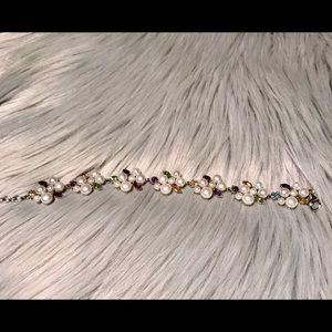 Pearl Bracelet with gemstones